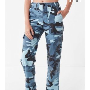 Urban Outfitters Blue Camo Pants (NEW)